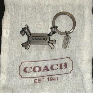 Coach Schnauzer Key Ring Charm